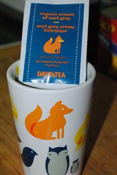 New mug and tea from David's Tea