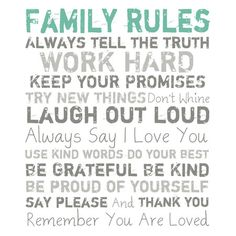 Family Rules Canvas Print I