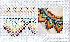 Loom Bracelet Patterns, Loom Bracelets, Diy Jewelry, Beaded Jewelry, Beaded Necklace, Native Beading Patterns, Beaded Collar, Clothes Crafts, Hama Beads