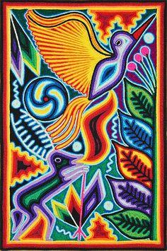 Huichol Yarn Art ~ 8 by 12 Inch