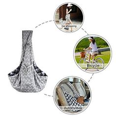 Pet Sling Carrier KSTON Small Dog Cat Shoulder Bag Safe & Comfort Travel Outdoor #KSTON