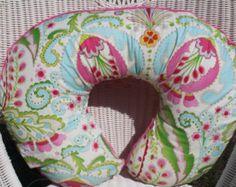 Baby Girl Burp Cloths Kumari Garden Teja by theposhpeaboutique