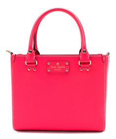 Look at this #zulilyfind! Kate Spade Hot Rose Small Quin Wellesley Leather Satchel by Kate Spade #zulilyfinds