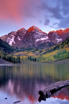 Maroon Bells Lake near Aspen, Colorado by Andy Cook