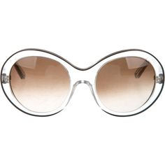 Pre-owned Marni Oversize Circular Sunglasses ($50) ❤ liked on Polyvore featuring accessories, eyewear, sunglasses, clear, marni glasses, oversized circle glasses, marni sunglasses, clear glasses and circular sunglasses