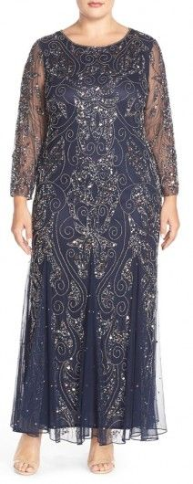 Vintage Style Gown from Pisarro Nights, perfect for the plus size mom or aunt