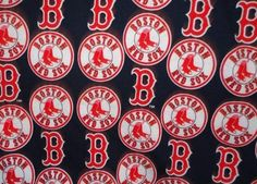 Boston Red Sox fabric material scrap remnant for crafts 9 x 12. $12.00, via Etsy.