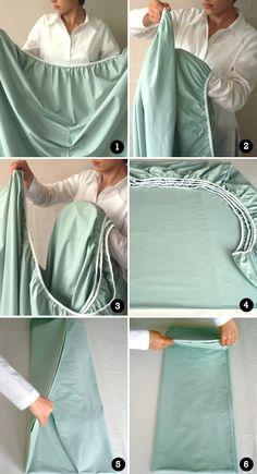 Saiba mais: Aprendendo a dobrar lençol de elástico rápido e fácil.