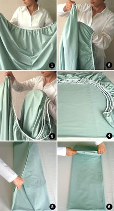 Aprendendo a dobrar lençol