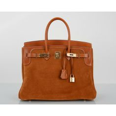 Hermès Gold Grizzly Suede & Barenia 35cm Birkin Bag, Limited Edition
