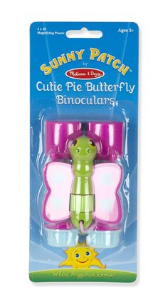 Melissa And Doug Cutie Pie Butterfly Binoculars Good Cheer, Melissa & Doug, Outdoor Toys, Binoculars, Colorful Backgrounds, Patches, Objects, Butterfly, Kids
