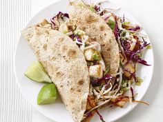 Tofu Tacos — Meatless Monday | FN Dish – Food Network Blog. Pretty good, and the info on how to make crisp tofu is useful.