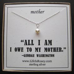 Gift For Mother - Gift For Mom - Mother Necklace With Handwrapped Swarovski…