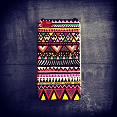 #DIY #iPhone #cover. Made by my sister with Posca pen. #colors are just beautiful !