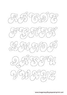 Moldes de letras para imprimir Stencil Lettering, Graffiti Lettering Fonts, Hand Lettering Styles, Fancy Fonts Alphabet, Bubble Letter Fonts, Alphabet Templates, Praying Hands Tattoo Design, Free Printable Bookmarks, Bullet Journal Books