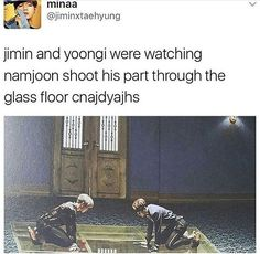This is so adorable aww << That's not the word I'd use for Jimin and Yoongi kneeling on the floor in those outfits...   that is sexy as fuck.....