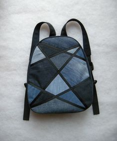 Denim Backpack, Denim Bag, Diy Sac, Backpack Pattern, Recycled Denim, Patchwork Bags, Fabric Bags, Knitted Bags, Handmade Bags