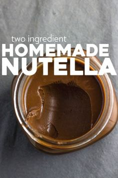 Two Ingredient Homemade Nutella | Make your own Nutella at home in just 6 minutes with this simple 2-ingredient recipe! | thealmondeater.com