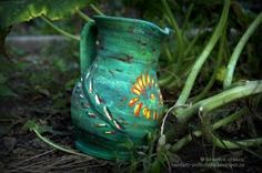window case flower vase - hand painted clay pots