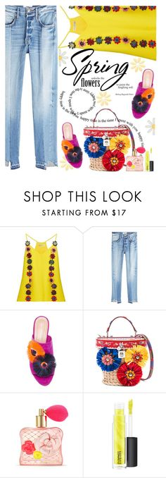 """""""Spring Flowers bring some cheer for Monday"""" by juliehooper on Polyvore featuring Mary Katrantzou, Frame, Loeffler Randall, Dolce&Gabbana, Victoria's Secret and MAC Cosmetics"""