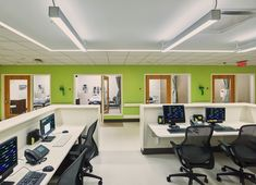 Image 7 of 12 from gallery of Methodist South Emergency Department Addition / architects. Photograph by Tim Hursley Trauma Center, Ed Design, Emergency Department, Corner Desk, Gallery, Hospitals, Architects, Medicine, Reception