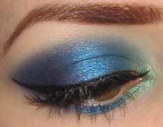 Glitter is my crack...: Green Blue and Purple Eye Makeup look with Morgana Cryptoria