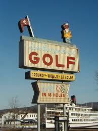 vintage golf sign