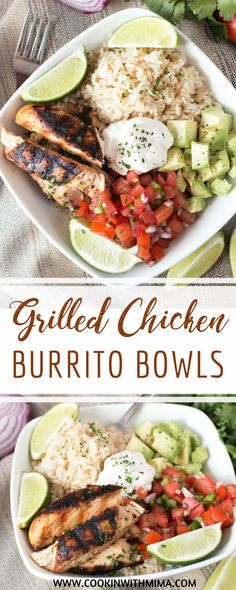 Grilled Chicken Burrito Bowls | Chicken Recipes | Bowl Recipes | Healthy Recipes | Cookin With Mima | #grilledchicken #burritobowls #healthy #cookinwithmima