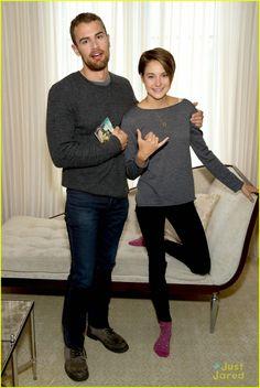 Theo James and Shailene Woodley