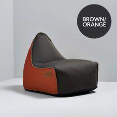 Sækkestole fra SACKit online  Køb f.eks. RETROit Canvas Sækkestol - COMBI* - Dark Brown / Orange | ALTID SKARPE PRISER |