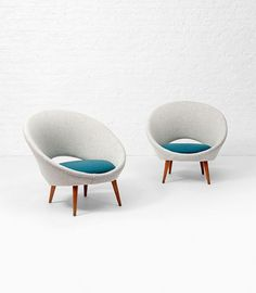 Folke Jansson; 'Saturn' Chairs, 1950s.