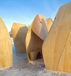 Winnipeg Skating Shelters by Patkau Architects as Architects
