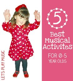 5 best music activities for kids from newborn to primary school. Easy and cheap for at home or in the classroom - with no musical experience necessary!