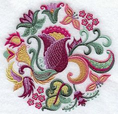 jacobean design  #embroidery   #afs collection