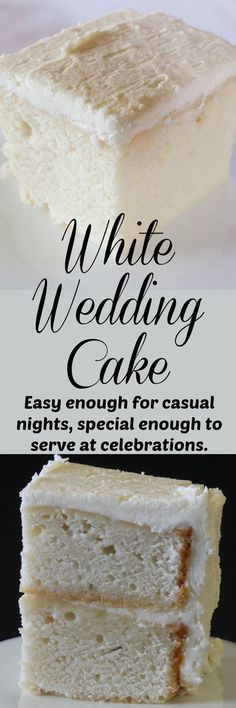 Delicious white cake with white buttercream icing. Tastes like old fashioned white wedding cake. Simple enough for beginners. Delicious white cake with white buttercream icing. Tastes like old fashioned white wedding cake. Simple enough for beginners. White Almond Cakes, White Cakes, White Wedding Cakes, Wedding White, Wedding Simple, Fall Wedding, White Weddings, Rustic Wedding, Indian Weddings
