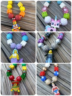 Custom made lego movie necklaces on etsy