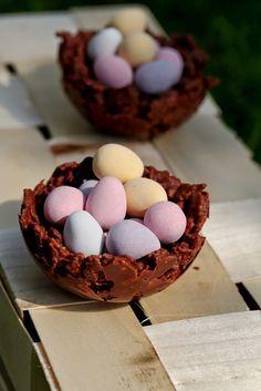 Petits nids croustillants en chocolat pour Pâques (recette facile et rapide) | On dine chez Nanou