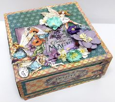 Nesting Boxes - Three Boxes, Three Sizes by Einat Kessler. Featuring Fairie Dust by Graphic 45!