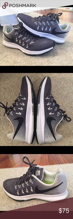 Women's Nike Air Zoom Pegasus 33 Gray/white nikes. Only worn a few times and in really good condition they are just a little small for me. Size 7 Nike Shoes Sneakers