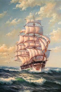 Картины (живопись) : Белые паруса