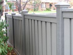 dark brown vinyl privacy fence | Trex Fencing | Trex Fencing Cost | Ma | Composite Fencing ...