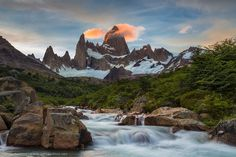 Photograph Flowing Fitz Roy by Joel Santos on 500px