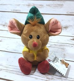 "NWT Disney Store Cinderella Plush Gus Gus Fat Mouse Animators Collection 7"" NEW  | eBay"