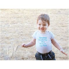 The smallest things...Baby Shower Gift Bodysuit by UnKaumanDesigns