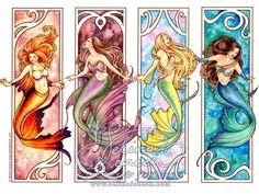 Art Nouveau + Mermaids = Awesome