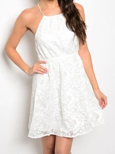 White lace dress Visit www.zoeembers.com for boutique clothing without the boutique price tag. Come shop!