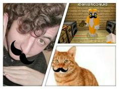Stampy gets MUSTACHED!!!:-D