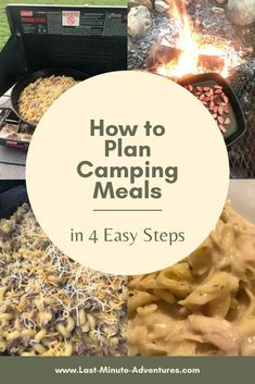One of the biggest challenges of camping is figuring out what to cook. Use my tips and tricks to make your camping meals a success! Camping Meal Planning, Camping Menu, Camping Foods, Camping Cooking, Camping Ideas, Campfire Food, Backpacking Food, Dehydrated Food, What To Cook
