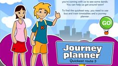 Race against time! Find the quickest route with Journey Planner: Route 3 - Mathematics (6)