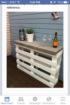 Pallet project!! potting and server table